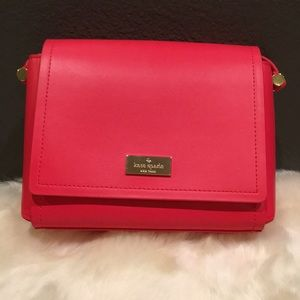 Kate Spade hot red small messenger